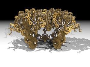 Genetic Fractals - random wheels