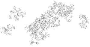 random tree fractal - julia set- 2